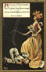 Here's to woman! Postcard
