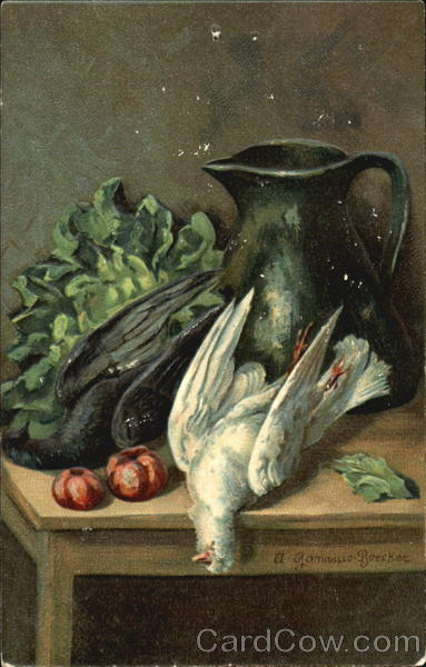 Doves and vegetables in the kitchen A. Gammius-Boecker