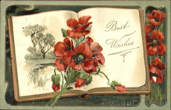 Flower Book Greetings