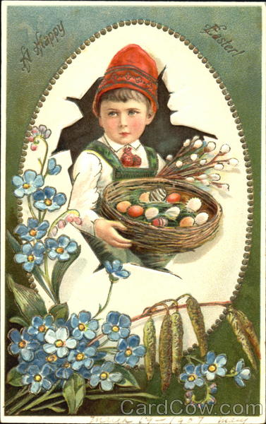 Boy in Easter Egg With Children