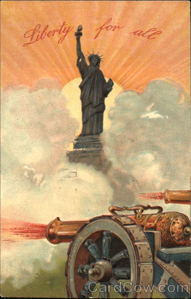 Statue of Liberty with Cannon Patriotic