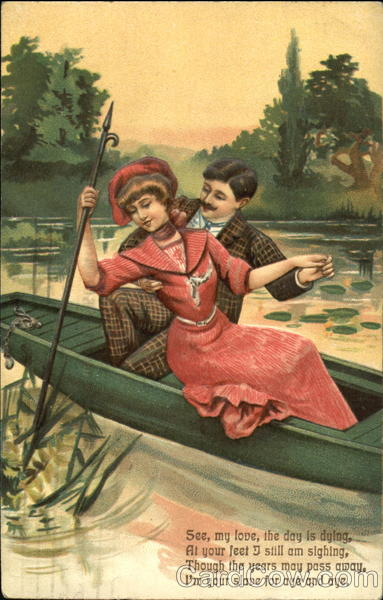 Couple in Rowboat Romance & Love