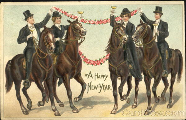 Two Couples on Horses