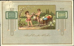 Cherubs with Lamb & Easter Eggs