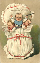 Three Babys Conducting Music and Singing