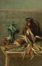 Bread and corn Still Life
