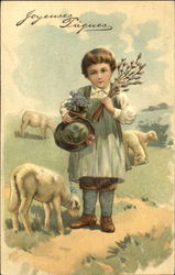 Boy with Three Sheep