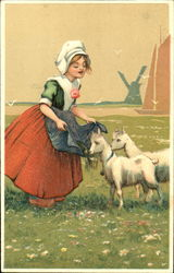 Maiden with Lambs