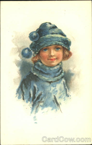 Young Girl in Blue Girls