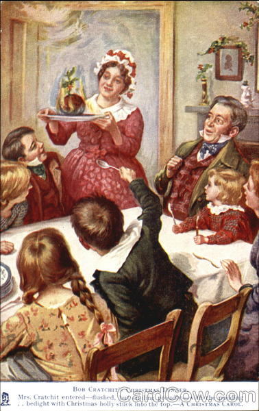 Bob Cratchit's Christmas Dinner Tuck's Oilette Series