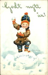 Boy with Snowballs