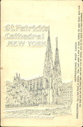 St. Patrick's Cathedral Reproducing Postcard