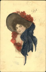 Pretty Woman in Large Hat