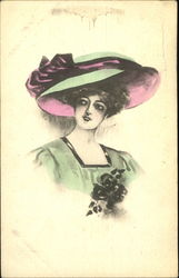 Victorian woman with a hat on