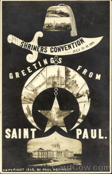 Shriners Convention Greetings From Saint Paul St. Paul Minnesota