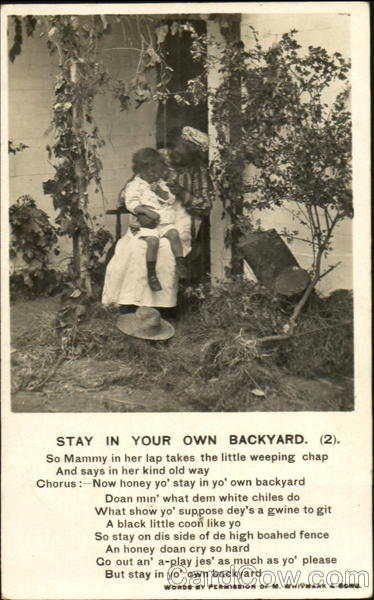 Stay In Your Own Backyard Black Americana
