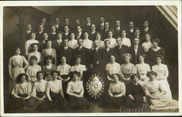 Group of Men and Women School and Class Photos