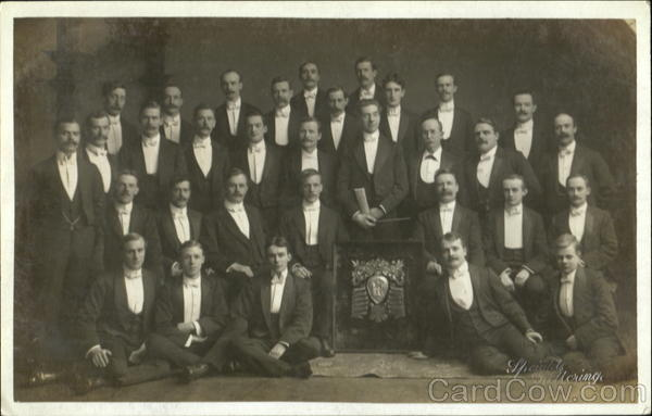 Portait of a group of men School and Class Photos