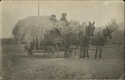 Men on Hay Wagon