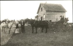 Horse and Carriage in front of small home