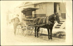 Meridian Grocery Delivery Man & Wagon