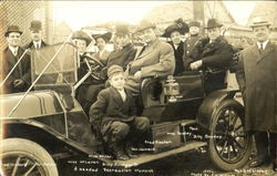 Billy Sunday and Group in Automobile