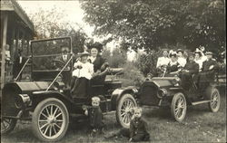 Families on Outing in Automobiles