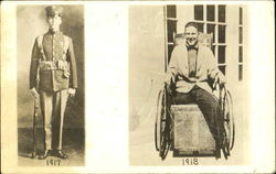 Young Man in Uniform 1917, In Wheelchair 1918