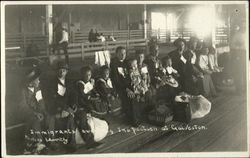 Immigrants Awarding Inspection At Galveston