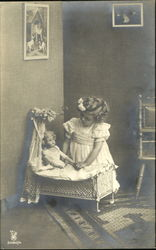 Little girl with dolly