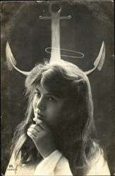 Woman with Halo or Devil Horns