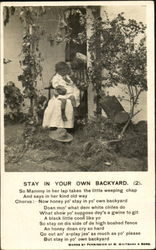 Stay In Your Own Backyard Postcard
