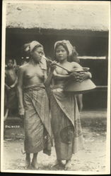 Nude Balinese Women in Native Attire