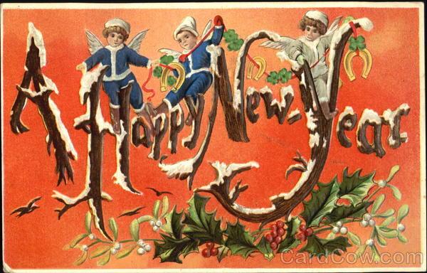 A Happy New Year Angels & Cherubs
