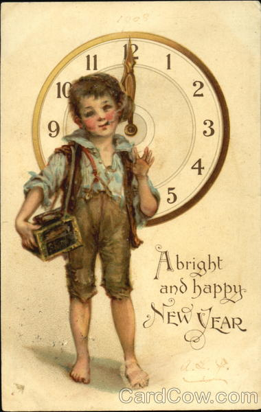 A Bright And Happy New Year Frances Brundage Children