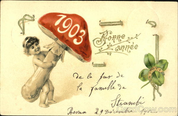 1903 Bonne Annee Year Dates