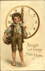 A Bright And Happy New Year Postcard