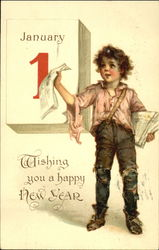 Wishing You A Happy New Year Postcard