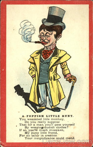 A Foppish Little Runt Caricatures