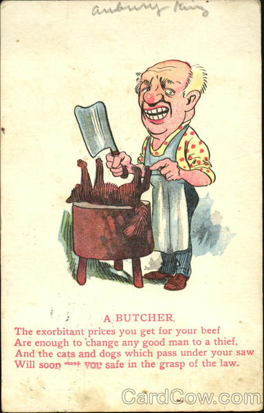 A Butcher Caricatures