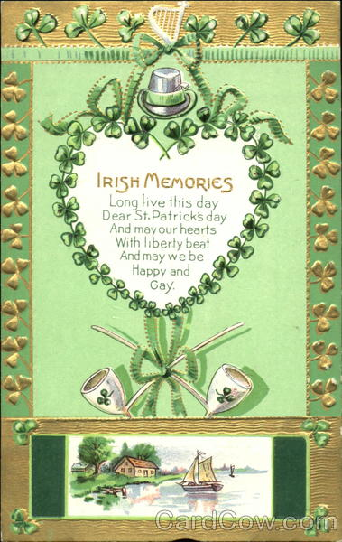 Irish Memories Vintage Post Card