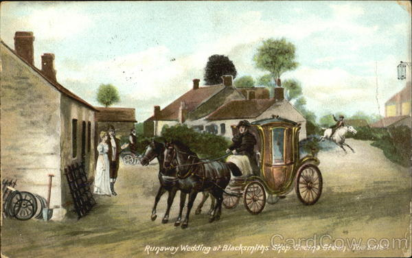 Runaway Wedding At Blacksmiths Shop Gretna Green Too Late Ireland