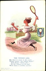 The Tennis Girl Postcard