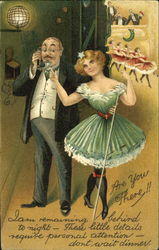 Portly man with young cabaret girl