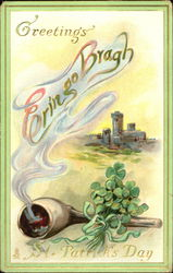 Greetings On St. Patrick's Day Erin Go Bragh Postcard