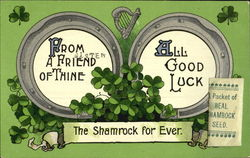 From A Friend Of Thine All Good Luck The Shamrock For Ever