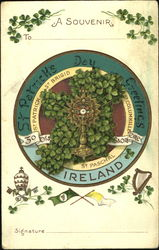 A Souvenir St. Patrick's Day Greetings Ireland