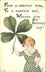 From A Certain Girl To A Certain Boy Wishing Him St. Patrick's Joy!
