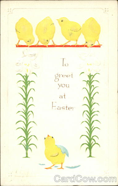 I Greet You at Easter With Chicks