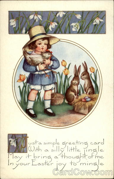 Just a Simple Greeting Card: Easter Joy Girls